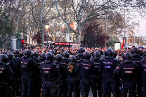 Manifestación no autorizada por la libertad de Pablo Hasel