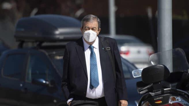 El fundador de Foro Asturias, expresidente del Principado de Asturias y exministro del PP, Francisco Álvarez-Cascos, llega a la Audiencia Nacional.