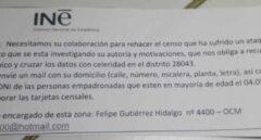 El INE alerta de un intento de fraude que suplanta al Censo Electoral en Madrid