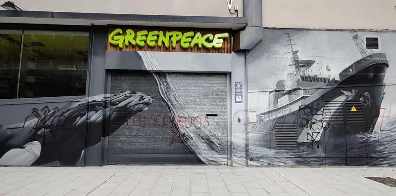 Fachada de Greenpeace en Madrid