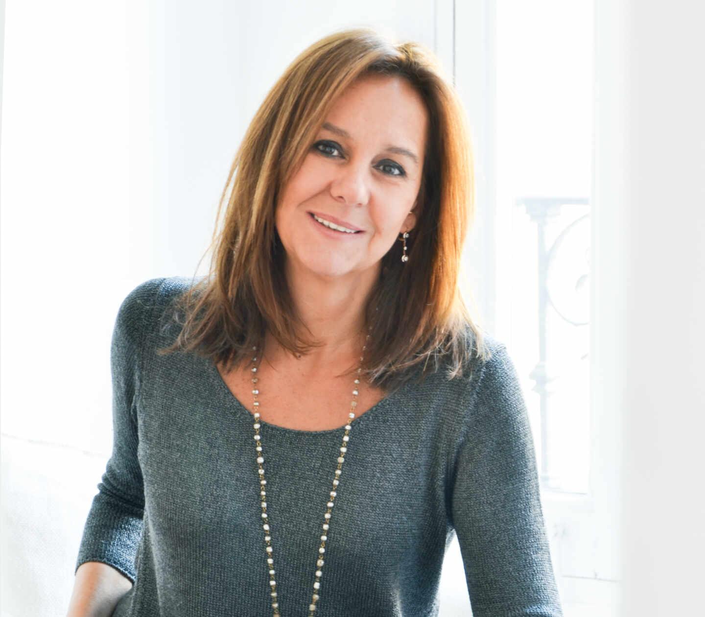 La autora bestseller, María Dueñas, en una imagen para la presentación de la serie de 'La Templanza'