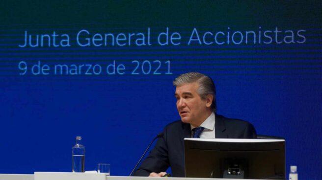 Francisco Reynés, presidente de Naturgy, durante la junta general de accionistas