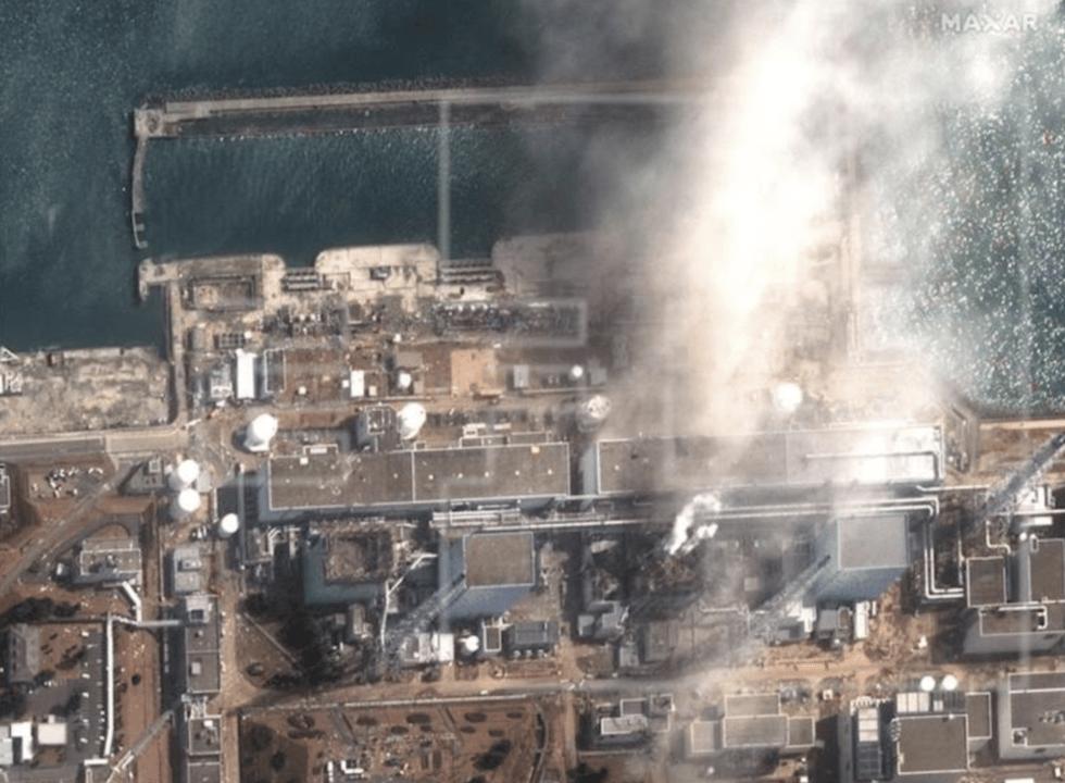 La central nuclear de Daiichi tras el accidente nuclear
