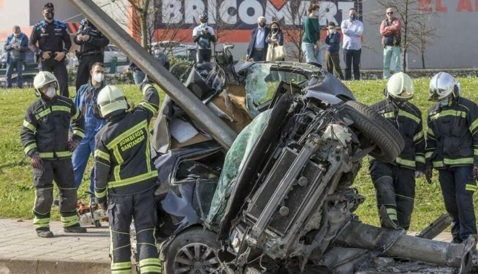 Un accidente de coche