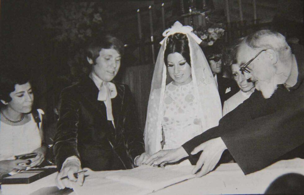 El día de su boda con Natalia Figueroa