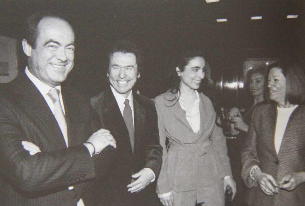 Con su consuegro José Bono