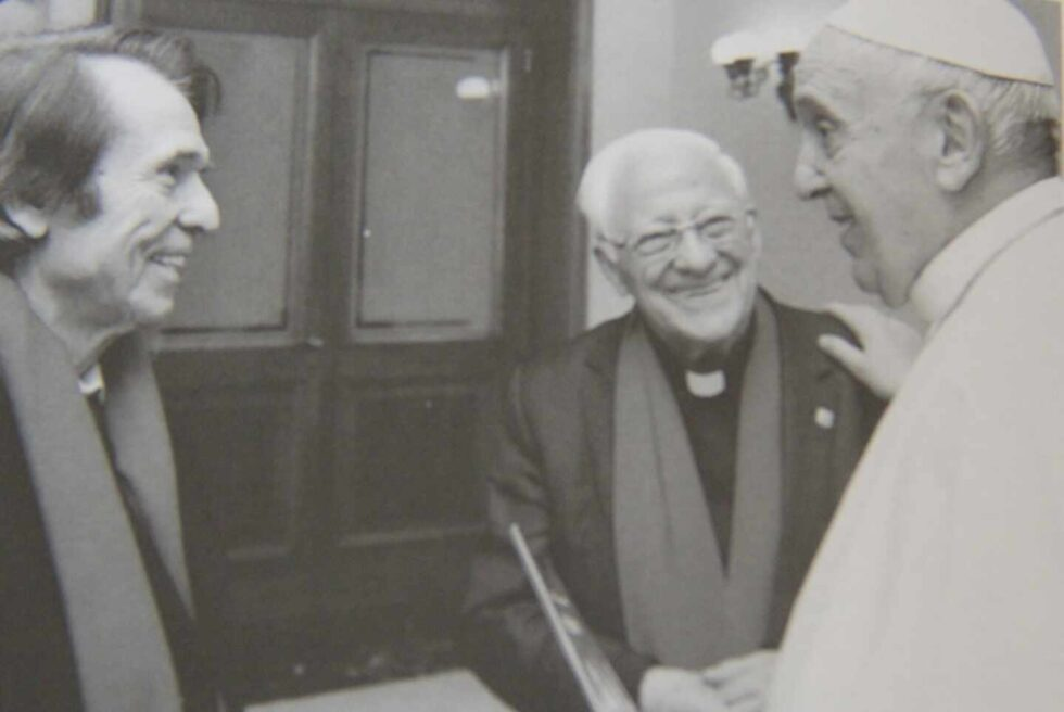 Con el Papa Francisco y el padre Ángel
