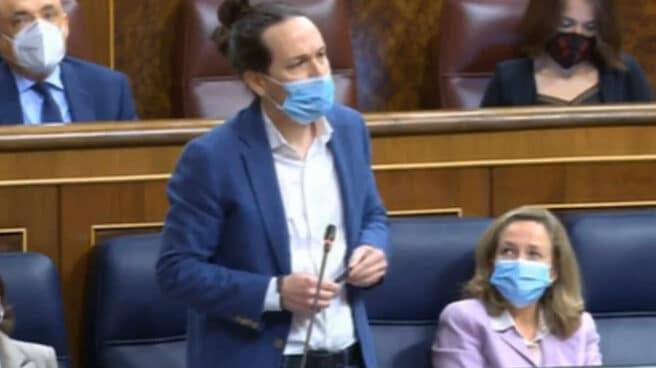 Pablo Iglesias, en el momento de comparar a Abascal con Paca La Piraña