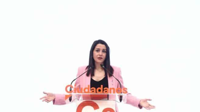 Inés Arrimadas, en la sede de Ciudadanos.