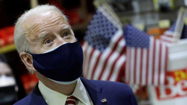 Joe Biden, presidente de EEUU, en una visita a un pequeño comercio en Washington