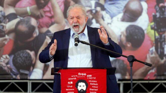 El ex presidente brasileño Lula da Silva en su comparecencia tras ser exculpado