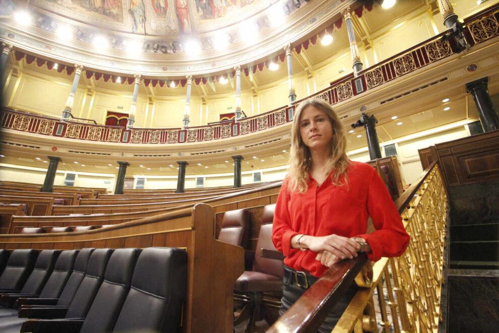 La diputada del PP por Vizcaya, Bea Fanjul, en el Congreso.