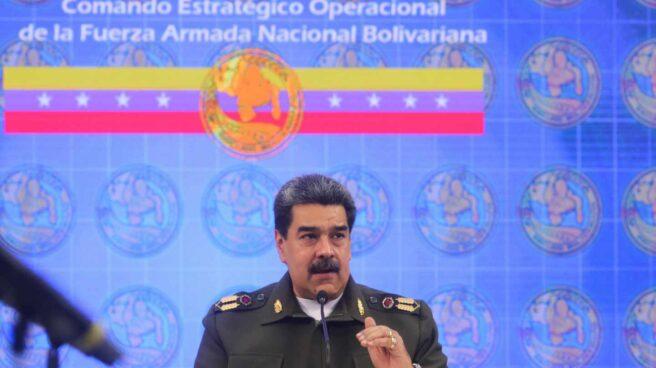 Nicolás Maduro, líder chavista, de militar, en un evento reciente