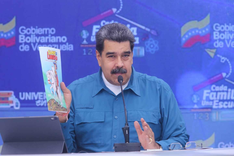 Nicolás Maduro en una comparecencia pública