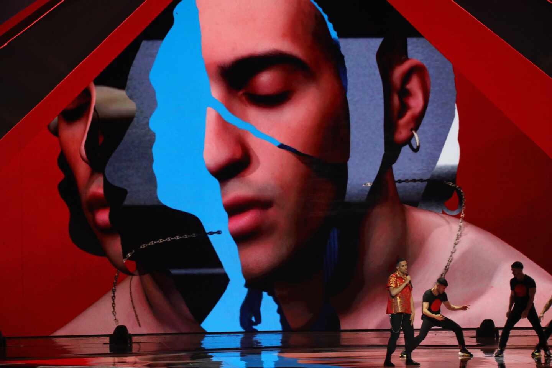 Mahmood durante el Festival de Eurovisión