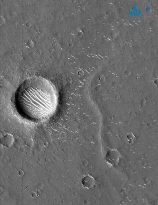 Imagen de la superficie de Marte captadas por la Administración Espacial Nacional China