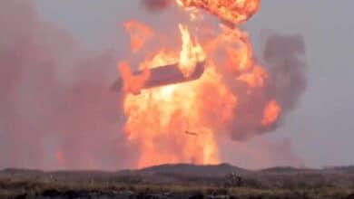 El Starship de SpaceX vuelve a estallar en su aterrizaje