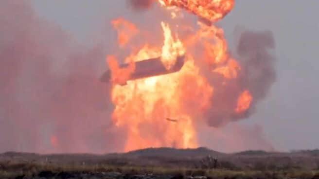 Momento de la explosión de la nave Starship de SpaceX