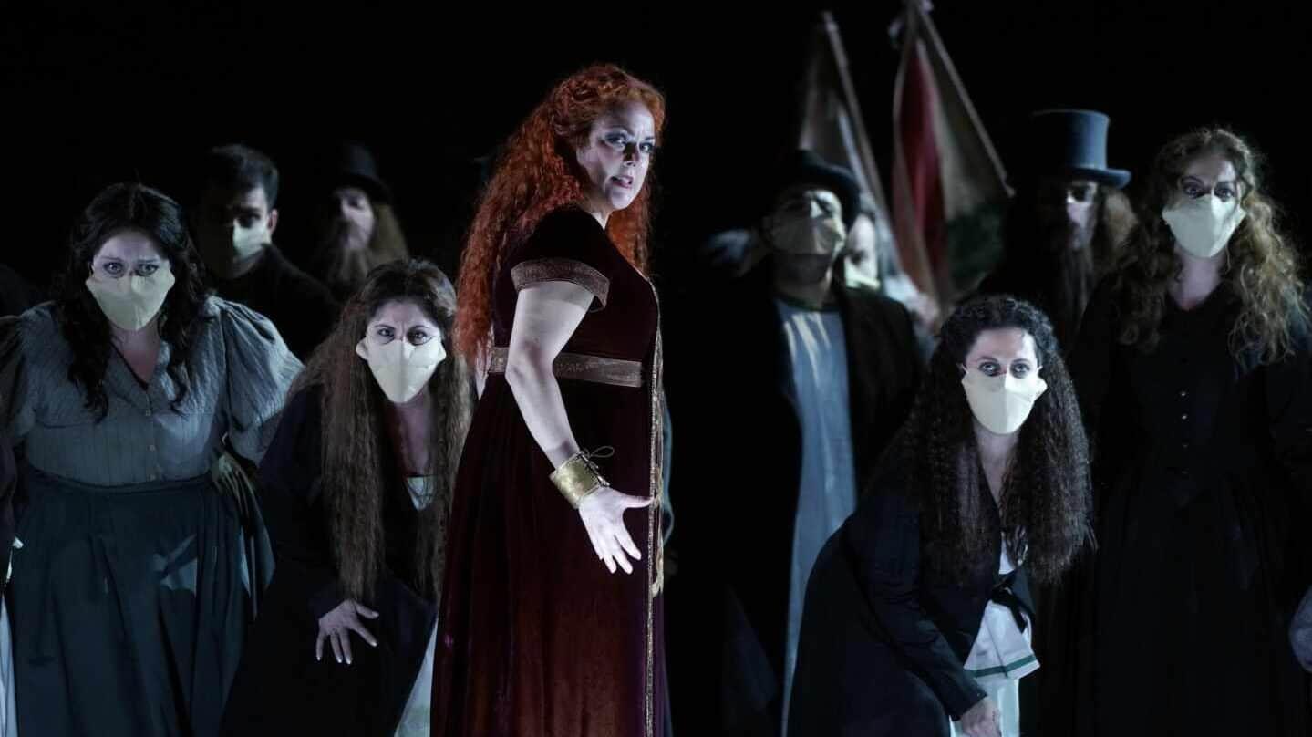 Escena de Norma. Yolanda Auyanet como Norma.