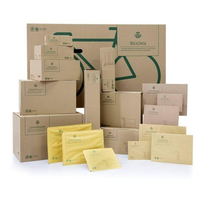 Nuevos paquetes de Correos Línea Bosques, respetuosos con el medioambiente