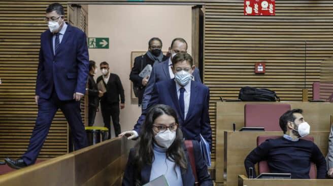 El presidente de la Generalitat de Valencia, Ximo Puig, y la vicepresidenta Mónica Oltra.