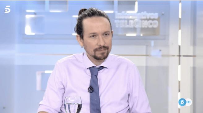 Pablo Iglesias en Informativos Telecinco