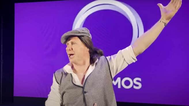 Imagen de la parodia de los Morancos con la candidatura de Pablo Iglesias a las elecciones en la Comunidad de Madrid