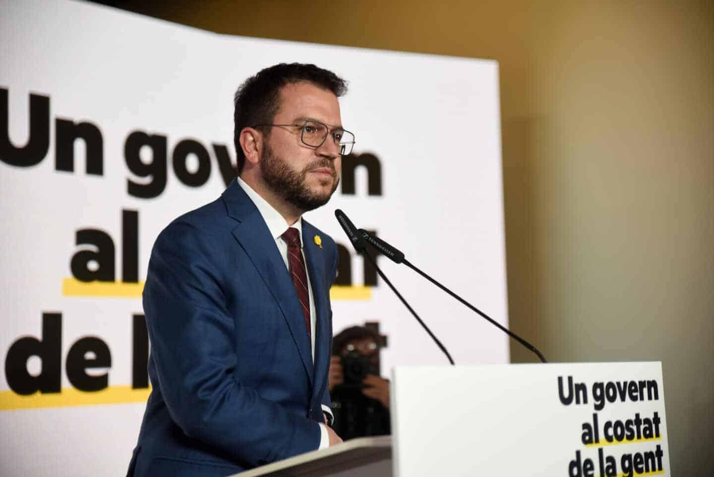 Pere Aragonés pronuncia una conferencia de presentación de su propuesta de gobierno