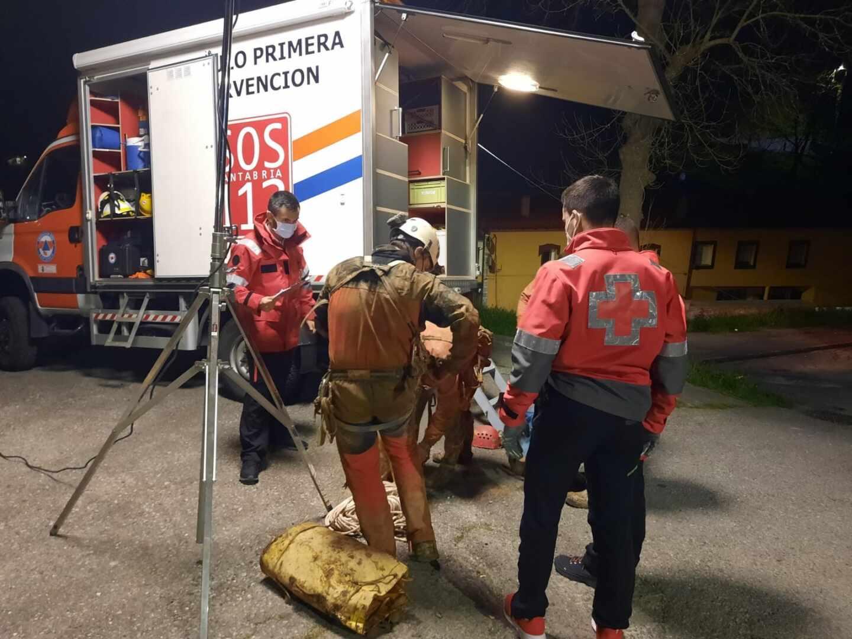 Rescate en Arredondo (Cantabria).