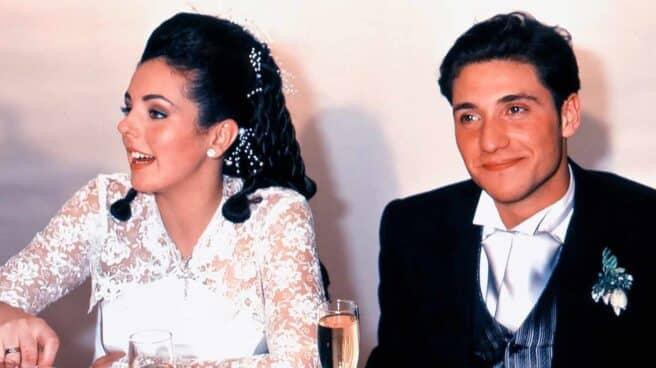 Rocío Carrasco y Antonio David el día de su boda