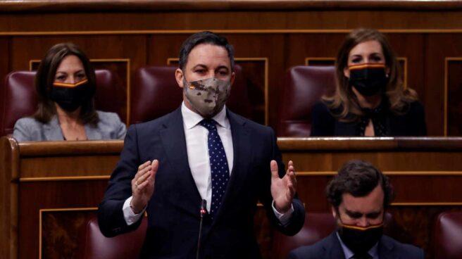 Santiago Abascal, en el Congreso.