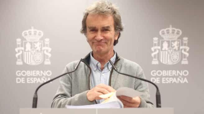 Fernando Simón, durante una rueda de prensa