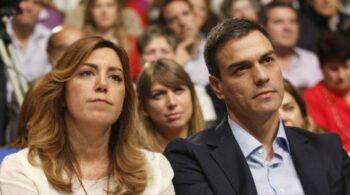 """Susana Díaz a Sánchez para evitar su salida: """"Quiero ganar la Junta de Andalucía para ti"""""""