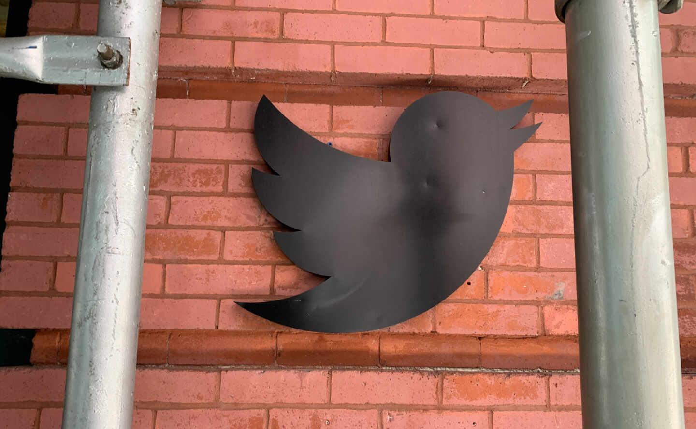 Logo de Twitter en las oficinas de Nueva York.