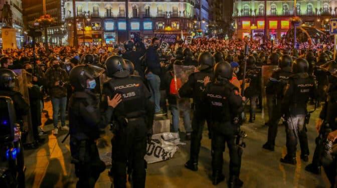 La Policía moviliza a 750 antidisturbios en Madrid por las manifestaciones del sábado