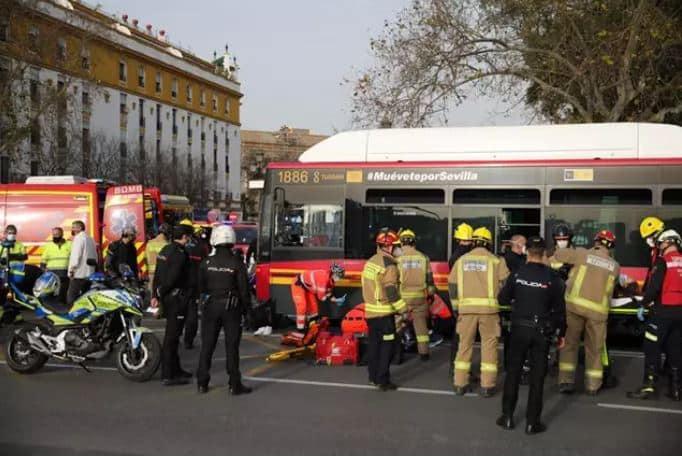 Imagen de un accidente de autobús