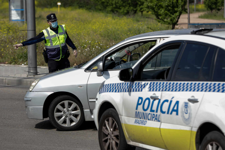 Un coche de la policía municipal de Madrid