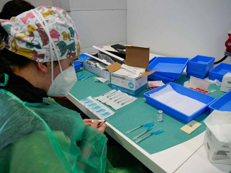 Vacunación en Santiago de Compostela (Galicia).