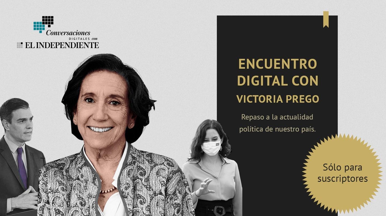 Victoria Prego, directora adjunta de El Independiente, ha mantenido un encuentro con los suscriptores del periódico