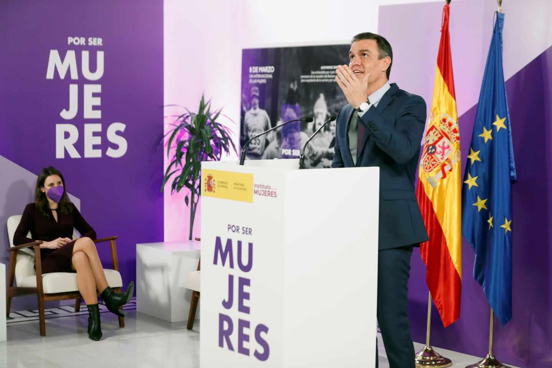 Pedro Sánchez, en el Día Internacional de la Mujer.