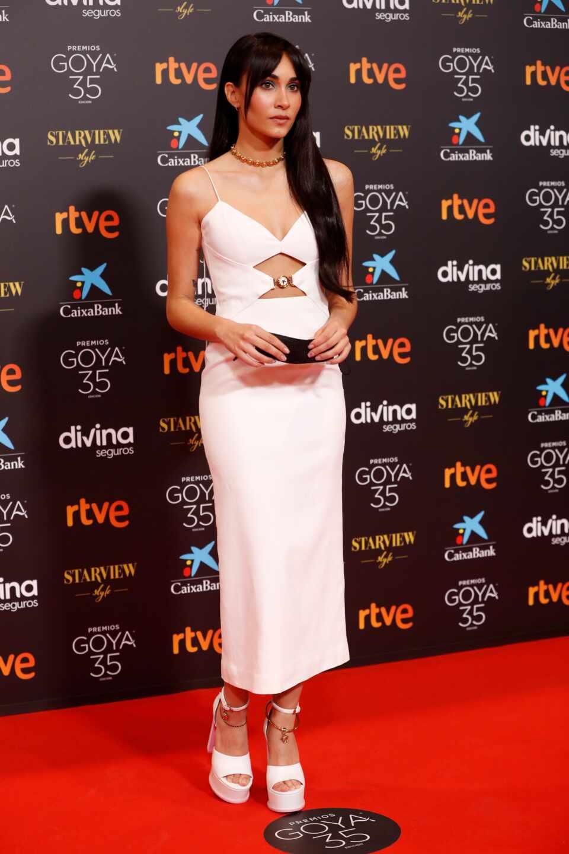 La cantante Aitana a su llegada hoy Sábado a la gala de la 35 edición de los Premios Goya