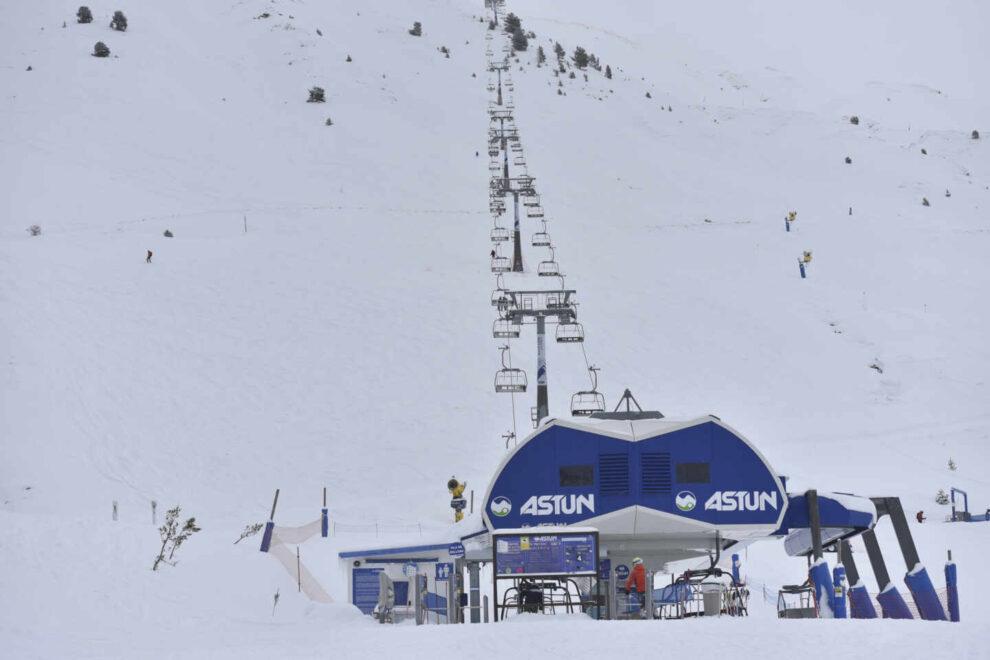 estación de esquí de Astún en el Pirineo aragonés