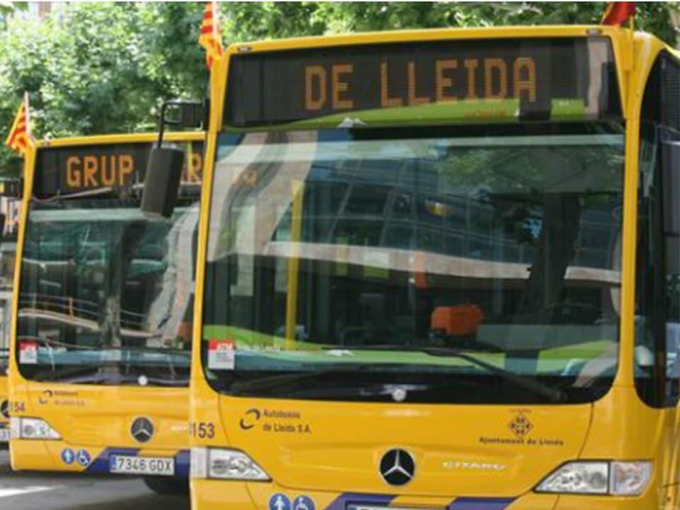 Autobuses urbanos de Lleida.