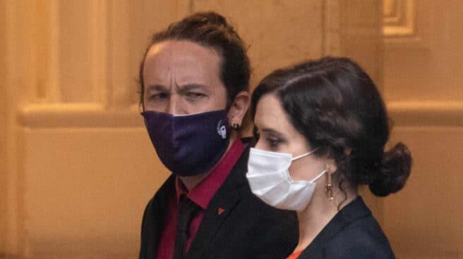 Pablo Iglesias e Isabel Díaz Ayuso en una imagen de archivo