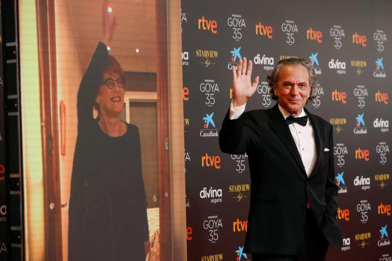 El actor José Coronado a su llegada hoy Sábado a la gala de la 35 edición de los Premios Goya