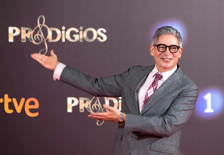 Boris Izaguirre, durante la presentación de la tercera temporada de 'Prodigios'.
