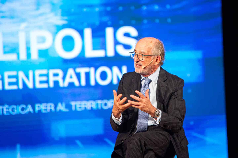 El presidente de Repsol, Antonio Brufau durante el evento organizado en Tarragona para anunciar nuevos proyectos