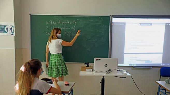 Clase de matemáticas en un centro de Madrid.