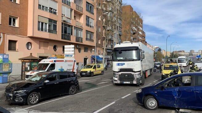 Accidente en Conde de Casal (Madrid).