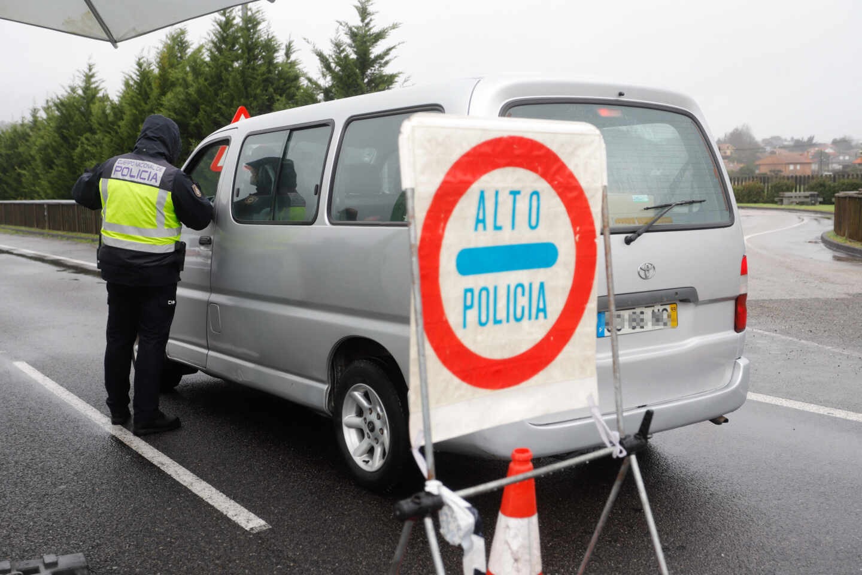 Control policial en Pontevedra.